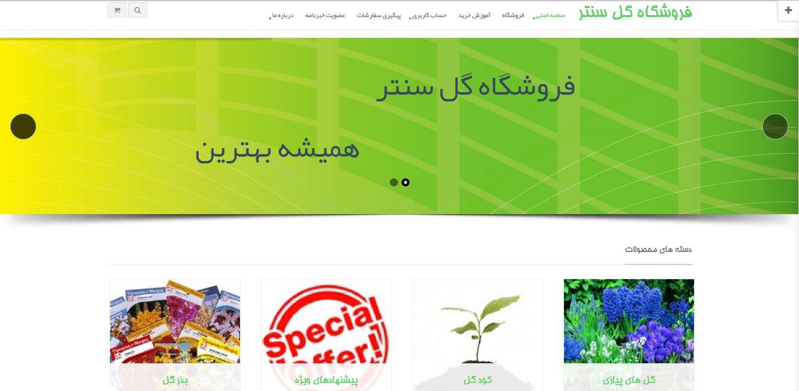 طراحی سایت فروشگاه گل ارومیه