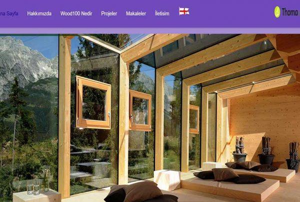 طراحی سایت انگلیسی وود ۱۰۰