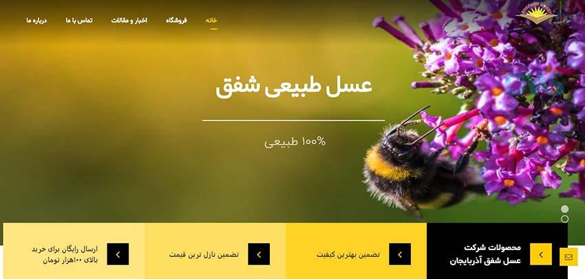 طراحی وب سایت فروشگاه عسل
