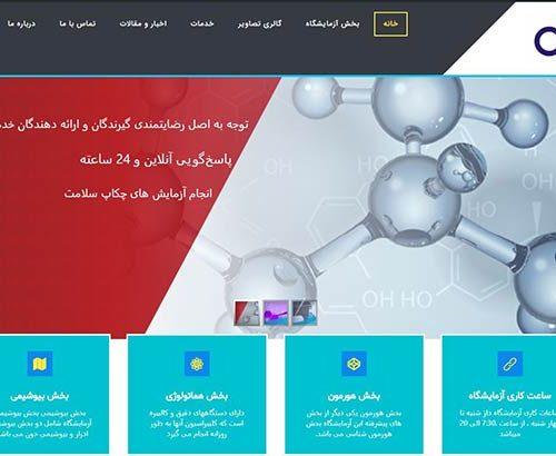 طراحی وب سایت آزمایشگاه