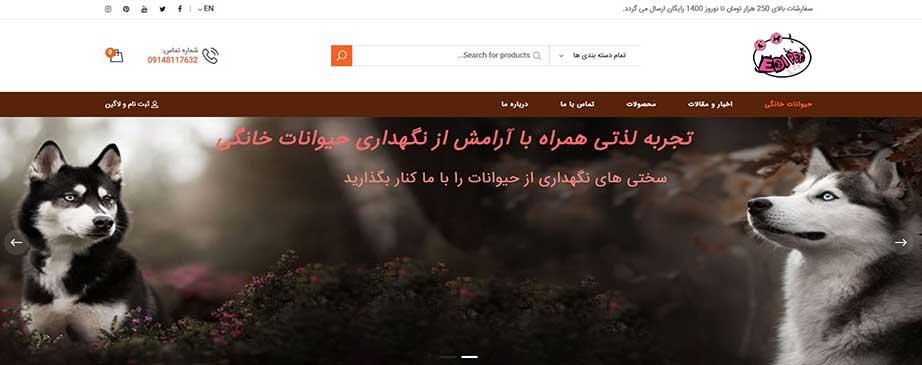 طراحی سایت فروشگاه اینترنتی دامپزشکی