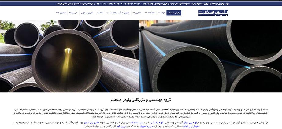 طراحی وب سایت کارخانه پلیمر صنعت